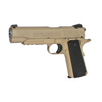 PISTOLA SWISS ARMS SA1911 CO2 4.5 TAN/NEGRA